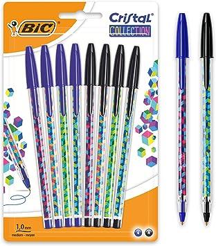 color azul Bol/ígrafo de punta redonda pack de 4 unidades BiC Cristal medium