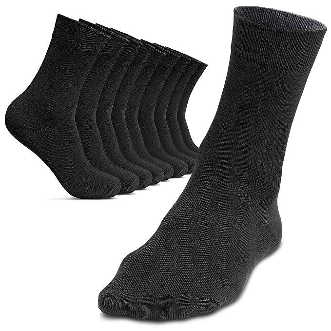 ROYALZ Calcetines de hombre 10 pares para traje casual y ...