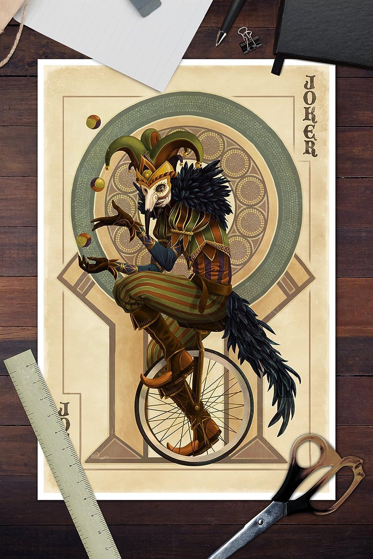 joker playing cards PICTURE PRINT A4 4 GLOSS PRINT UNFRAMED WALL ART WATERCOLOUR