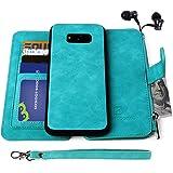Samsung Galaxy S8 Plus Case, [Detachable Wallet Folio][2 in 1][Zipper Cash Storage][Up to 14 Card Slots 1 Photo Window] Premi