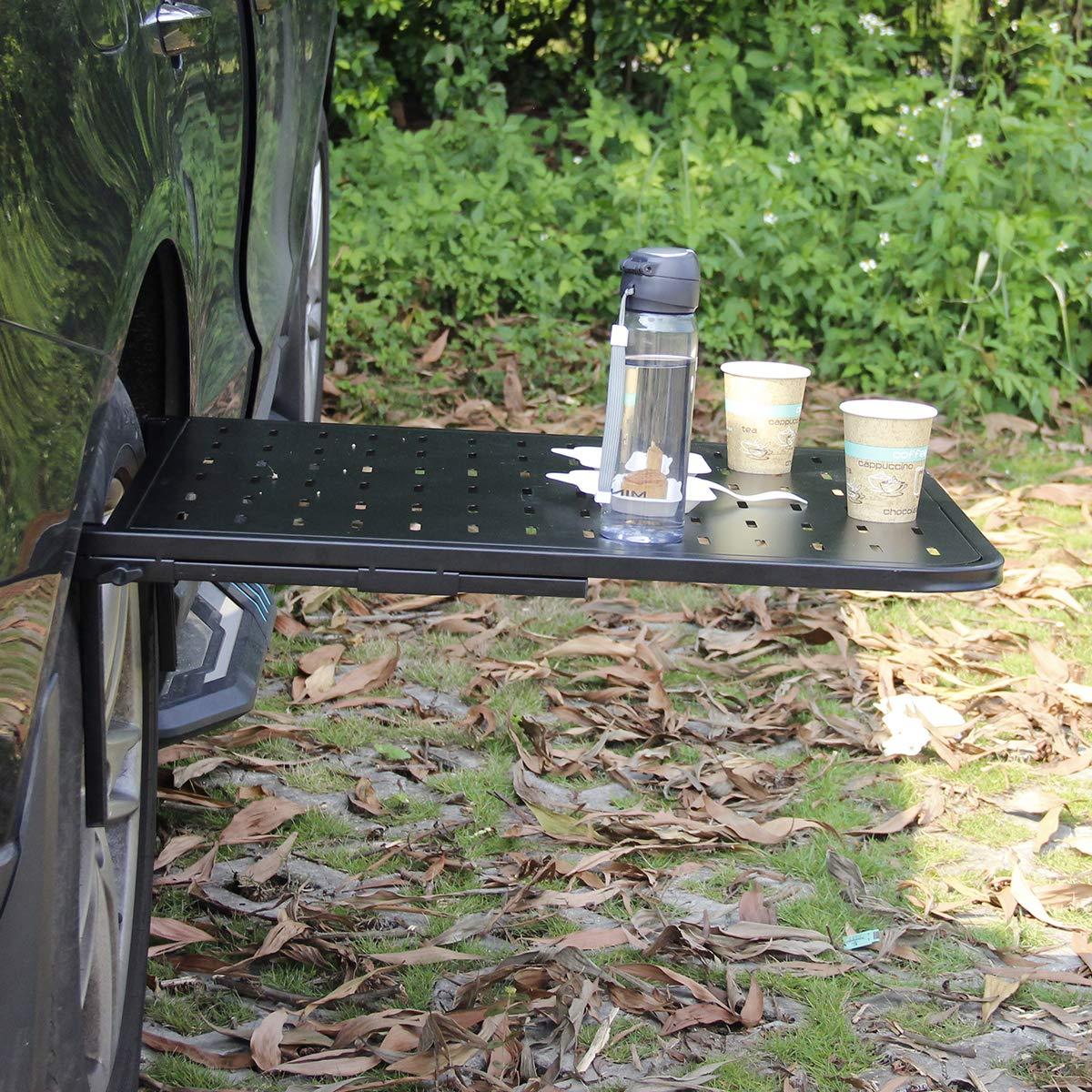 Table de pique-nique en acier pour montage sur pneu Wisamic Table de camping pliante