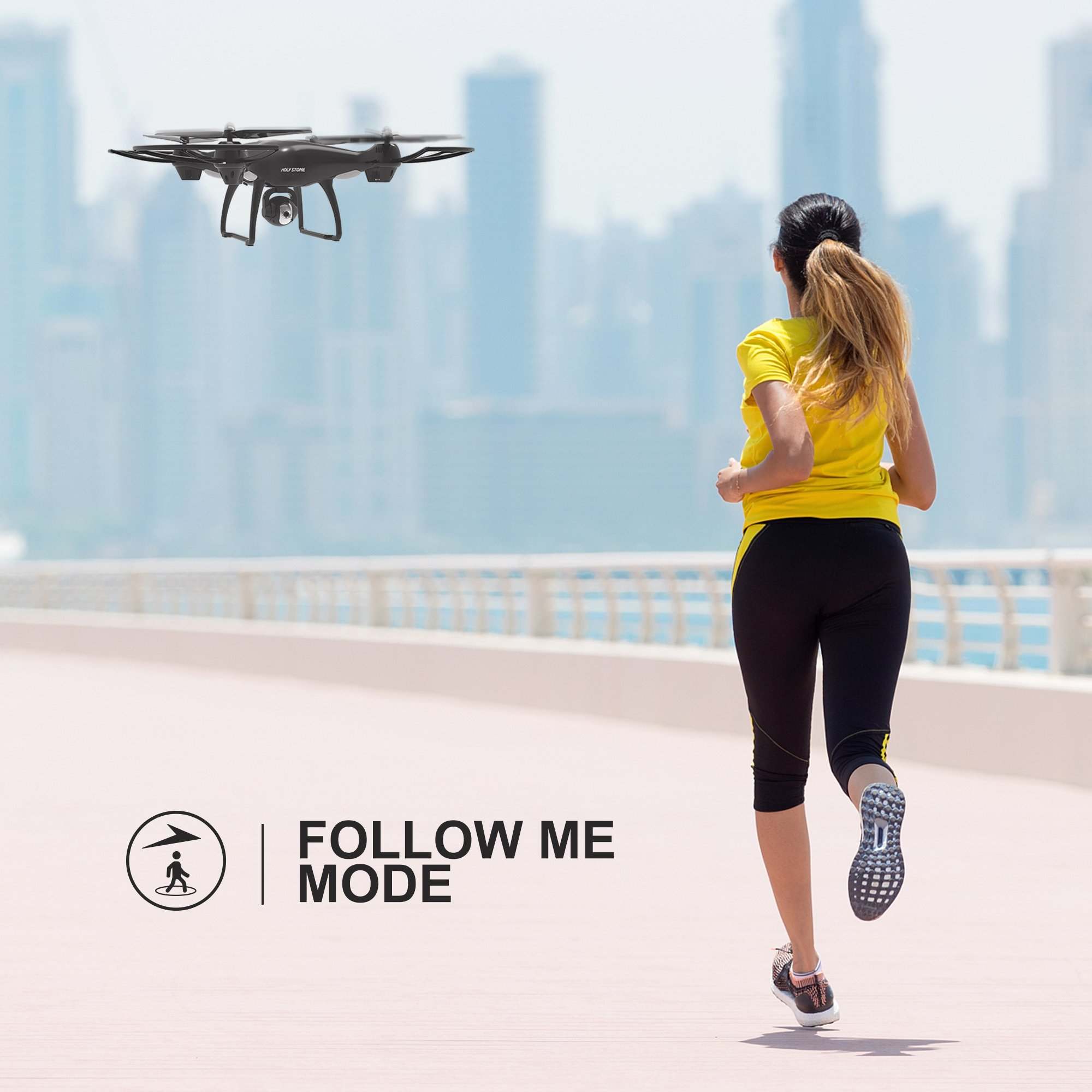 Holy Stone HS100 FPV RC Drone with Camera Live Video and GPS Return Home Quadcopter with Adjustable Wide-Angle 720P HD WIFI Camera- Follow Me, Altitude Hold, Intelligent Battery, Long Control Distance by Holy Stone (Image #2)