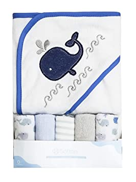 Serviette à capuchon pour bébé, ensemble de serviettes, motif de broderie  animale mignon, f768e5f67dc
