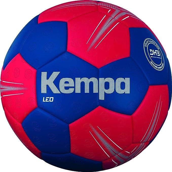 Kempa Leo balón de Entrenamiento Balonmano, Azul océano/Rojo lighthou, Talla única
