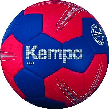Kempa Leo balón de Entrenamiento Balonmano, Azul océano/Rojo ...