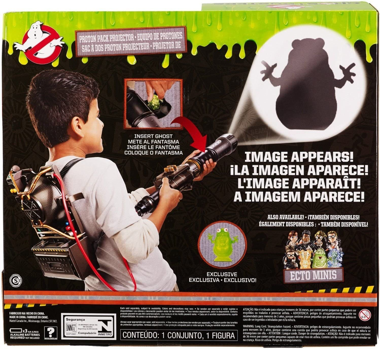 New Ghostbusters Electronic Proton Pack Projector (Colors/Styles May Vary) ^G#fbhre-h4 8rdsf-tg1327626