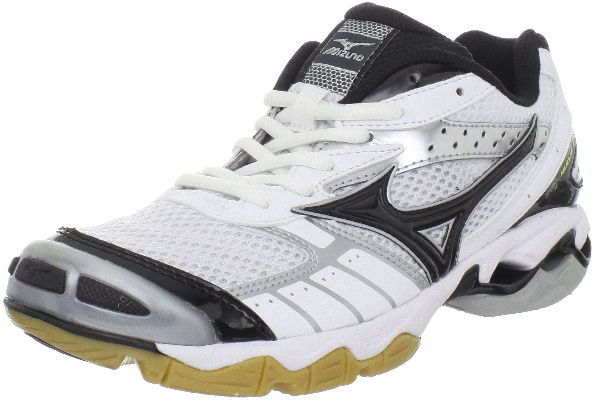 Mizuno Women's Wave Bolt Volleyball Shoe,White/Black,9 M US
