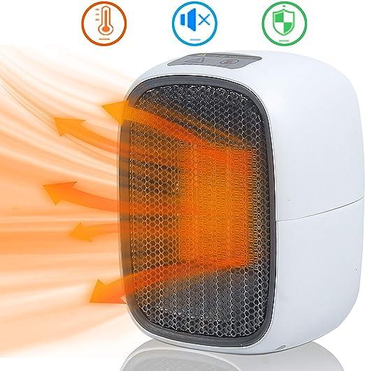 UKEER Calentador portátil, Calefactor Eléctrico Cerámico Mini ...