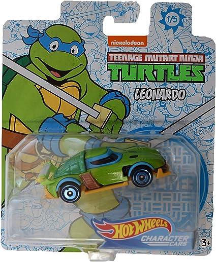 Hot Wheels 2020 Character Cars Teenage Mutant Ninja Turtles PLUS Nickelodeon Set