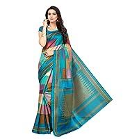 Mrinalika Fashion Women'S Art Silk Saree With Blouse (Multicolor_Free Size)