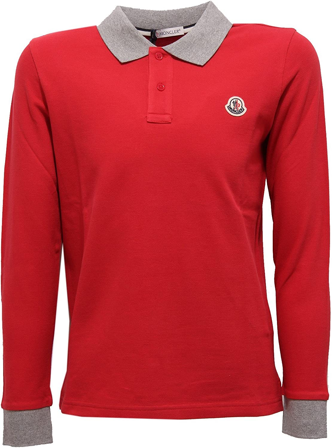 MONCLER 3314V Polo Bimbo Rosso Polo t-Shirt Kid Boy: Amazon.es ...