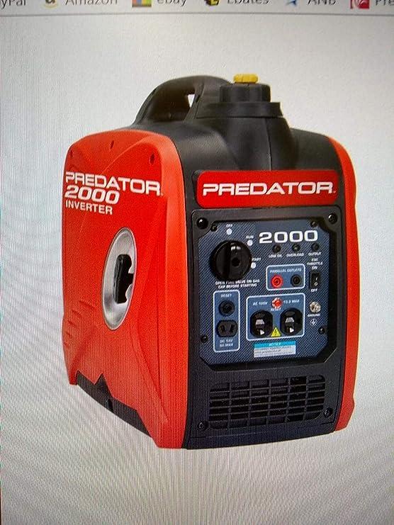 2000 Peak/1600 Running Watts, 2.8 HP (79.7cc) Portable Inverter Generator CARB & EPA III