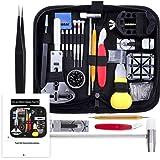 Vastar 153 PCS Watch Repair Kit, Watch Repair Tools Professional Spring Bar Tool Set, Watch Band Link Pin Tool Set with…