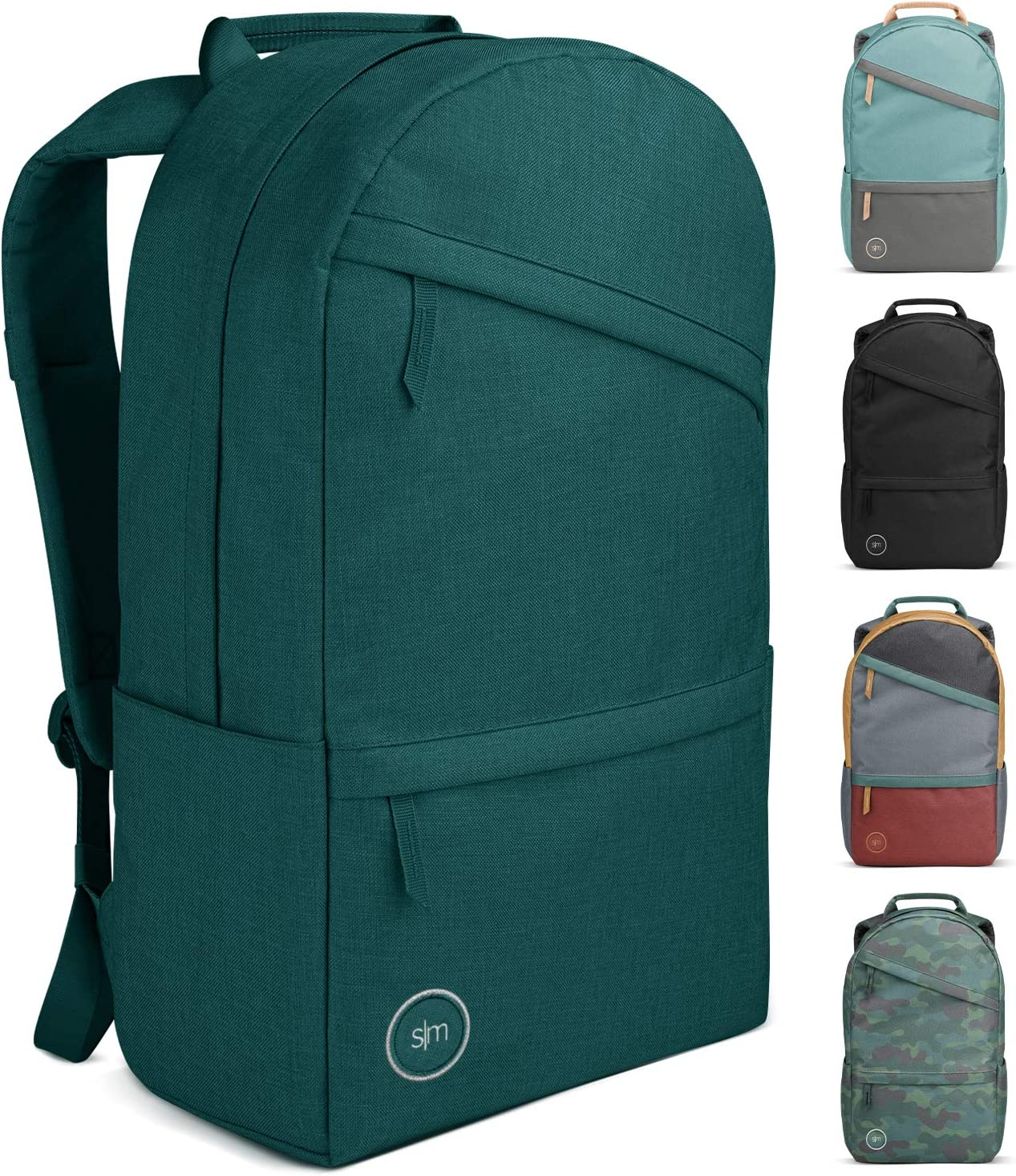 Simple Modern Legacy Backpack with Laptop Compartment Sleeve - 25L Travel Bag for Men & Women College Work School -Riptide