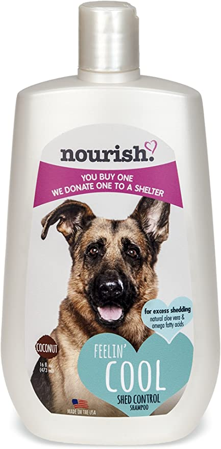 Nourish 16-Ounce Shampoo – Best Shampoo for Pitbulls and Bulldogs for Face Washing