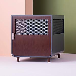 Staart - Radius Wooden Dog Crate - Mocha Walnut - Large