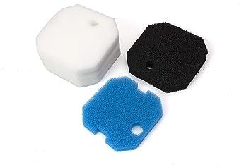 Sin marca Estera de Filtro Esponja de filtrado Gruesa y Fina de carbón de reemplazo para Eheim Professional 2222/2324 y Experience150/250/250T (8 Piezas por ...