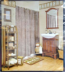 Shower Curtain Passport XPORT008F by Blonder Home