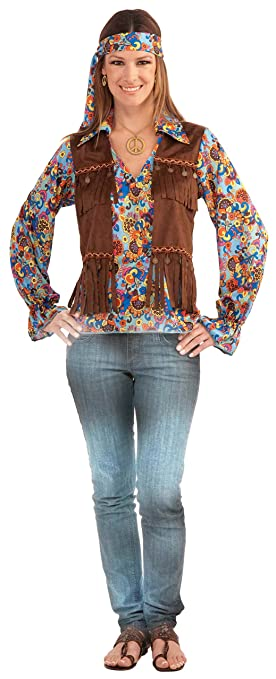 Hippie Dress | Long, Boho, Vintage, 70s Generation Hippie Groovy Costume Set $15.55 AT vintagedancer.com