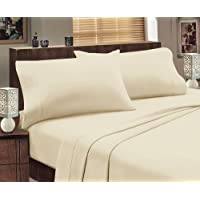 Jenny McLean Abrazo Flannelette 175GSM Egyptian Cotton Sheet Set Double Ivory