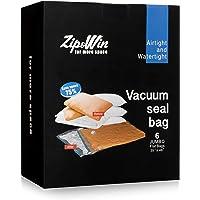 Vakumlu torba–6Açık için ekstra kalın Jumbo Space Saver Taschen mevsimsel, yatak örtüsü, yastık, tavan depolama Zip & Win (88,9x 121,9cm)