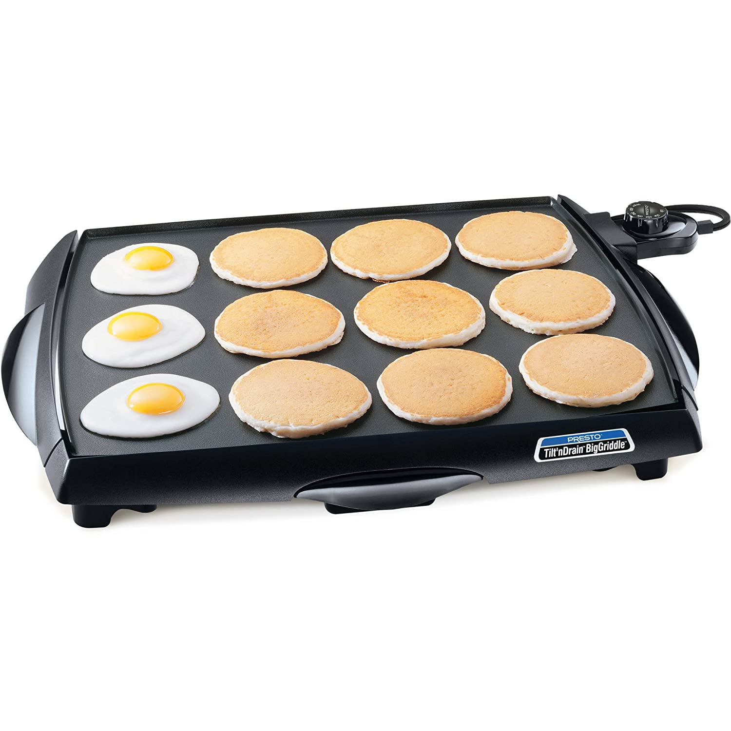 Presto Big Indoor Outdoor Griddle Cool Touch Easy to Use 7046