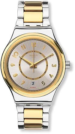 Swatch Reloj Digital para Mujer de Automático con Correa en Acero Inoxidable YIS410G: Amazon.es: Relojes
