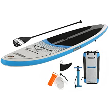 Lifetime Tidal 110 Inflatable Stand Up Paddle Board (Paddle Included), 11, White