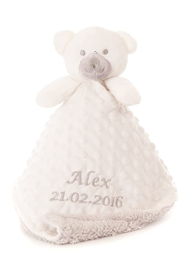 BABY NAME,DATE BLANKET,COMFORTER SNUGGLY NEWBORN PERSONALISED GIFT TEDY BEAR