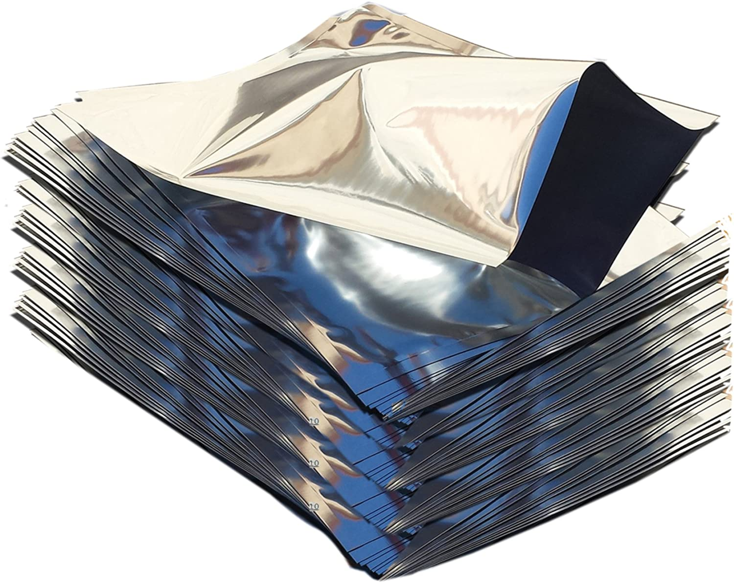 "One Quart Mylar Bags 8"" x 12"" (50) with PackFreshUSA LTFS Guide"