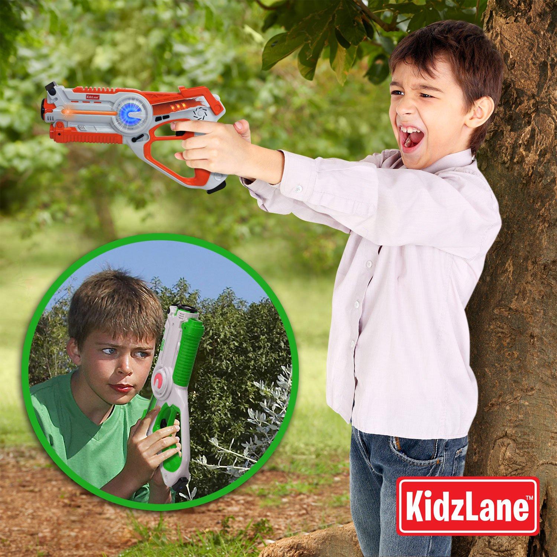 Kidzlane Infrared Laser Tag : Game Mega Pack - Set of 4 Players - Infrared Laser Gun Indoor and Outdoor Group Activity Fun. Infrared 0.9mW by Kidzlane (Image #2)
