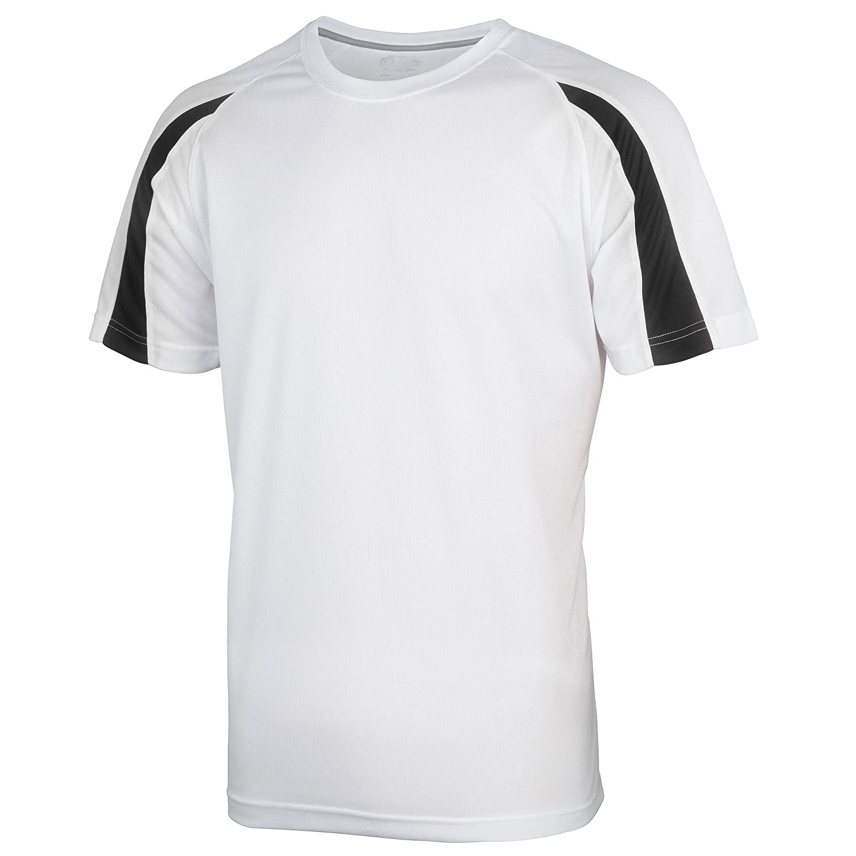 Just Cool Kids Unisex Contrast Plain Sports T-Shirt