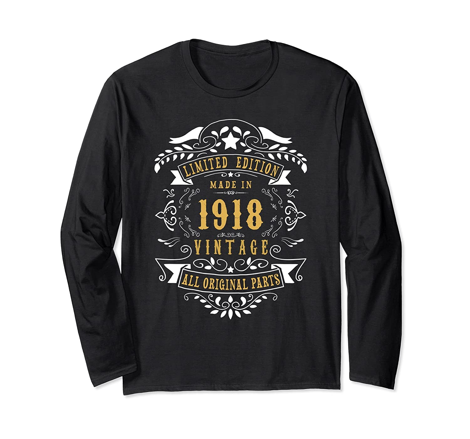 100 year Old Made 1918 100th Birthday Gift Long Sleeve Shirt-TH