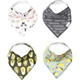 "Baby Bandana Drool Bibs for Drooling and Teething 4 Pack Gift Set ""Baja"" by Copper Pearl"