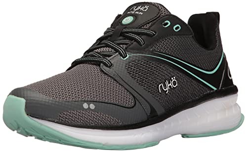 Ryka Womens NITE Running Shoe, Black/Grey, ...