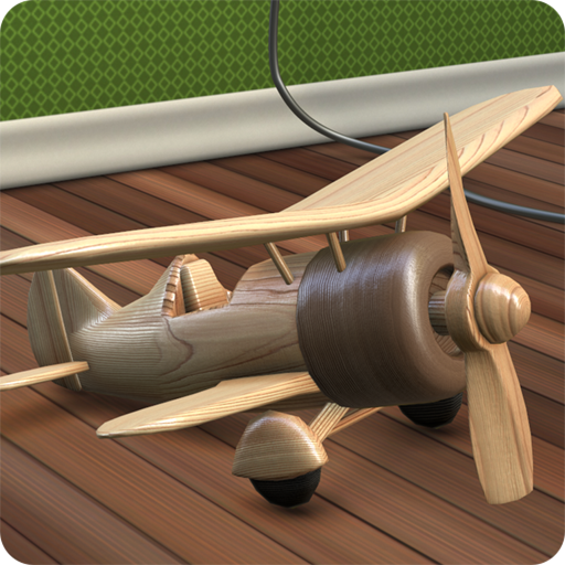 Wooden Toy Airplane Live Wallpaper