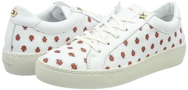 Tommy Hilfiger Lo S1285uzie 12a, Sneakers Basses Femme, Blanc (White), 36 EU