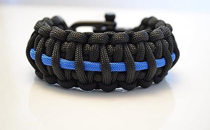 Us Paracord tipo II pulsera-policía-Thin Blue Line-policía pulsera-Handmade
