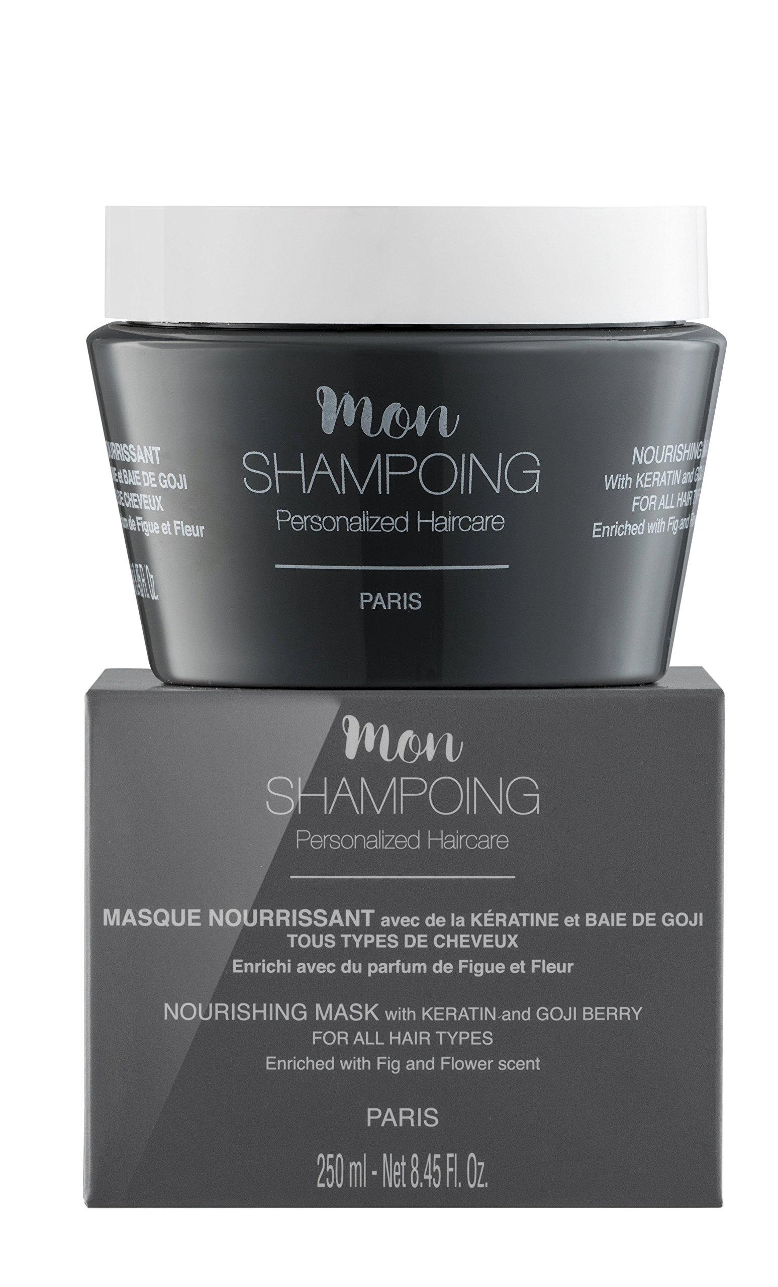 Mon Shampoing nourishing MASK with KERATIN and GOJI BERRY – ALL HAIR TYPES – 250 ml by Mon Shampoing (Image #1)