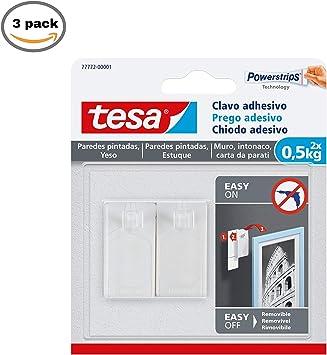 Pack 3 x TESA TE77772-00001-00 SMS Clavo Adhesivo hasta 0,5Kg para ...