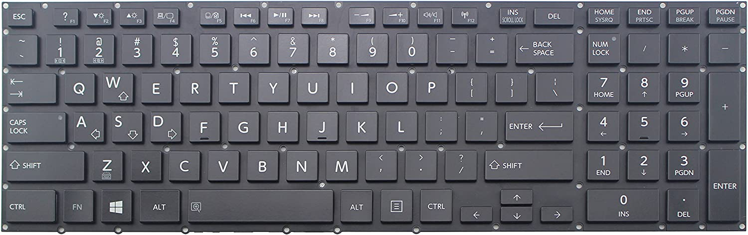 New US Black Backlit Keyboard for Toshiba Satellite P55-A P55T-A5118 P55-B P55T-A P55T-B