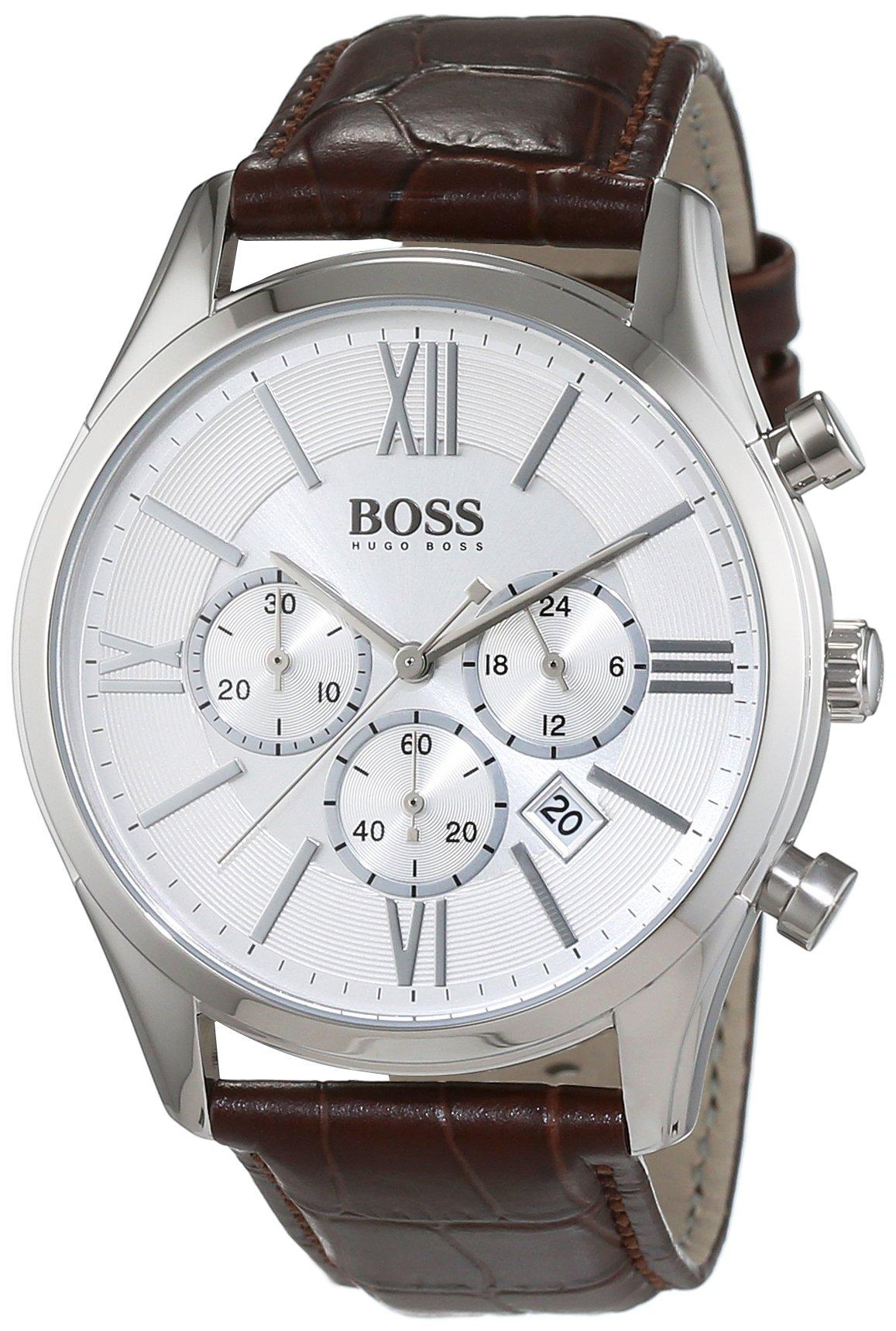 Hugo Boss Mens Men's Chronograph Analog Dress Quartz Watch 1513195 by Hugo Boss