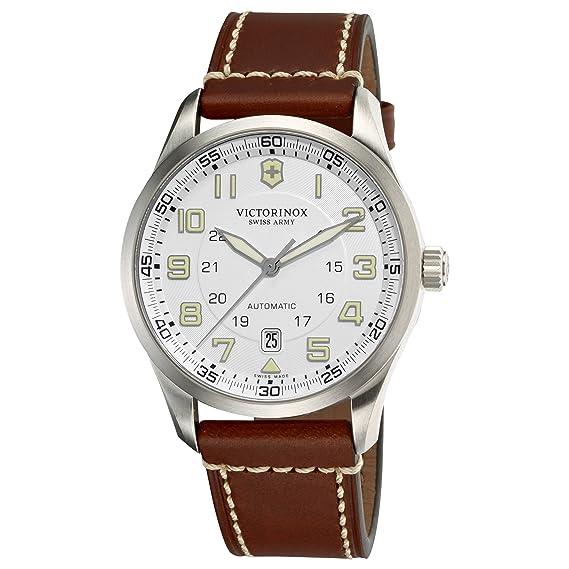 Victorinox Professional 241505 - Reloj analógico automático para hombre, correa de cuero color marrón: Victorinox Swiss Army: Amazon.es: Relojes