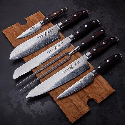Estrella Montañista 7 cuchillos de damasco con 13 meses de ...
