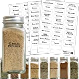 Home & Garden 200 Printed Spice Labels Includes Waterproof 160 Spice Jar Label Stickers 40 Bl