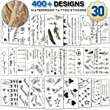 Temporary Tattoos for Adult Men Women Kids(30 Sheets), Waterproof Temporary Tattoo Fake Tattoos Body Art Sticker Cover Up Set