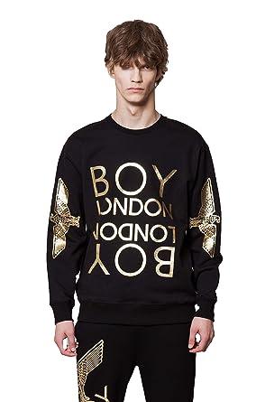 71ea1c3722a1 Amazon.com  BOY LONDON Eagle Artwork Printed on Sleeves Sweatshirt ...