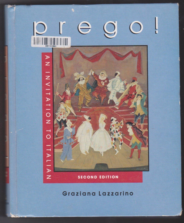 Prego!: An invitation to Italian: Graziana Lazzarino: 9780394336305:  Amazon.com: Books