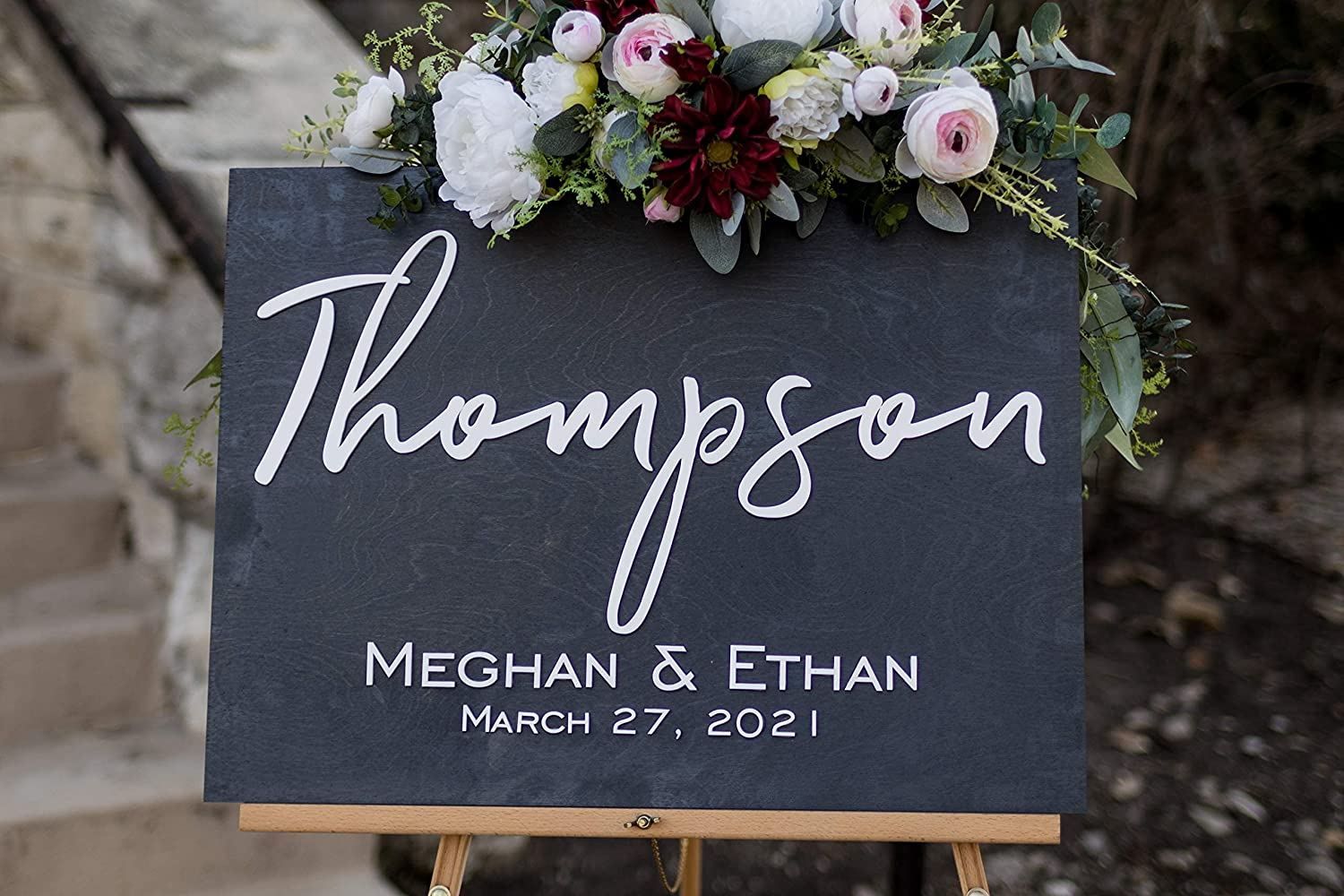 3D Last Name Welcome Sign for Weddings. Personalized Wooden Wedding Welcome Sign. Custom Wedding Decor. Customized with Your Names and Dates. Wedding Ceremony Decorations