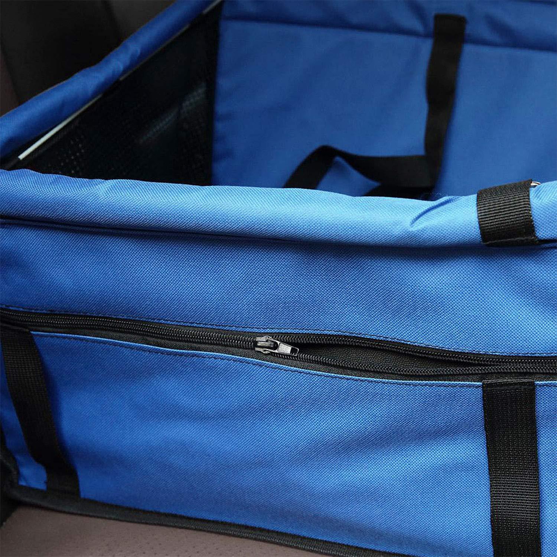 faltbar zanasta Autositz f/ür kleine Hunde /& Katzen Blau Haustier Auto Sitz Transport-Tasche f/ür R/ücksitz oder Beifahrersitz